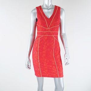 nikibiki ∙ neon lace bodycon dress